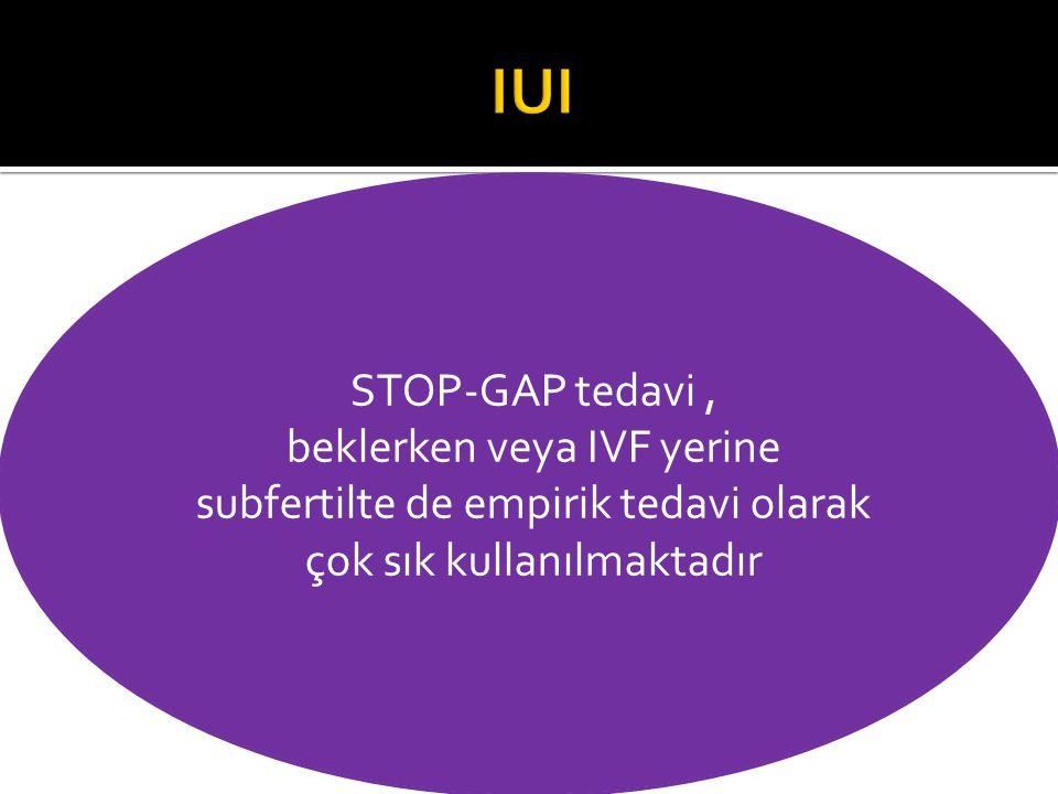 IUI STOP-GAP tedavi , beklerken veya IVF yerine