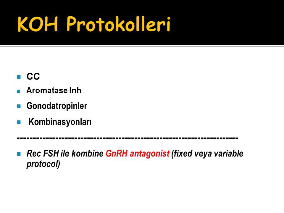 KOH Protokolleri CC Gonodatropinler Kombinasyonları