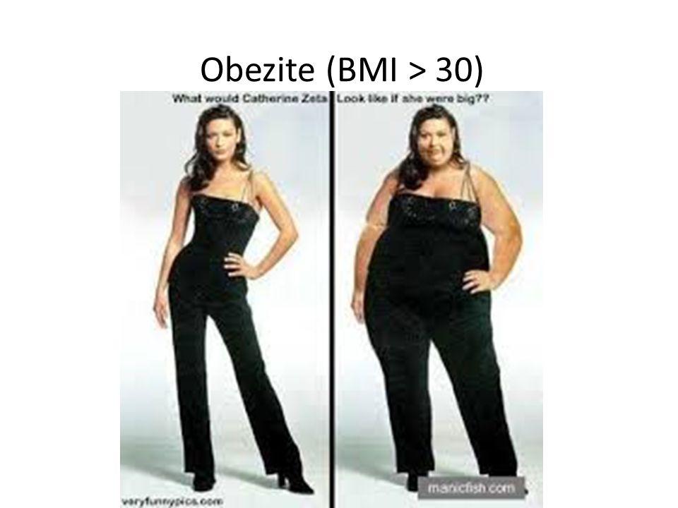 Obezite (BMI > 30)