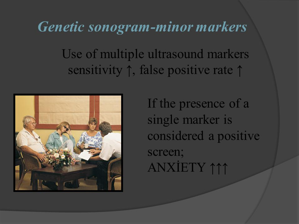 Genetic sonogram-minor markers