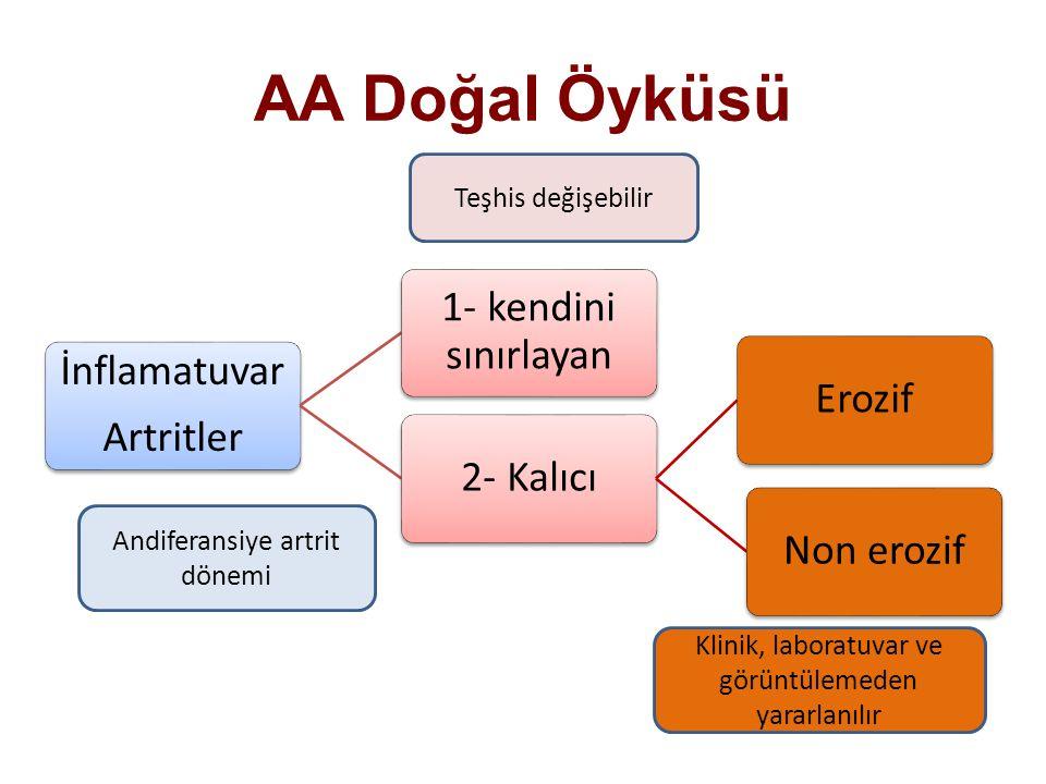 AA Doğal Öyküsü Teşhis değişebilir Andiferansiye artrit dönemi