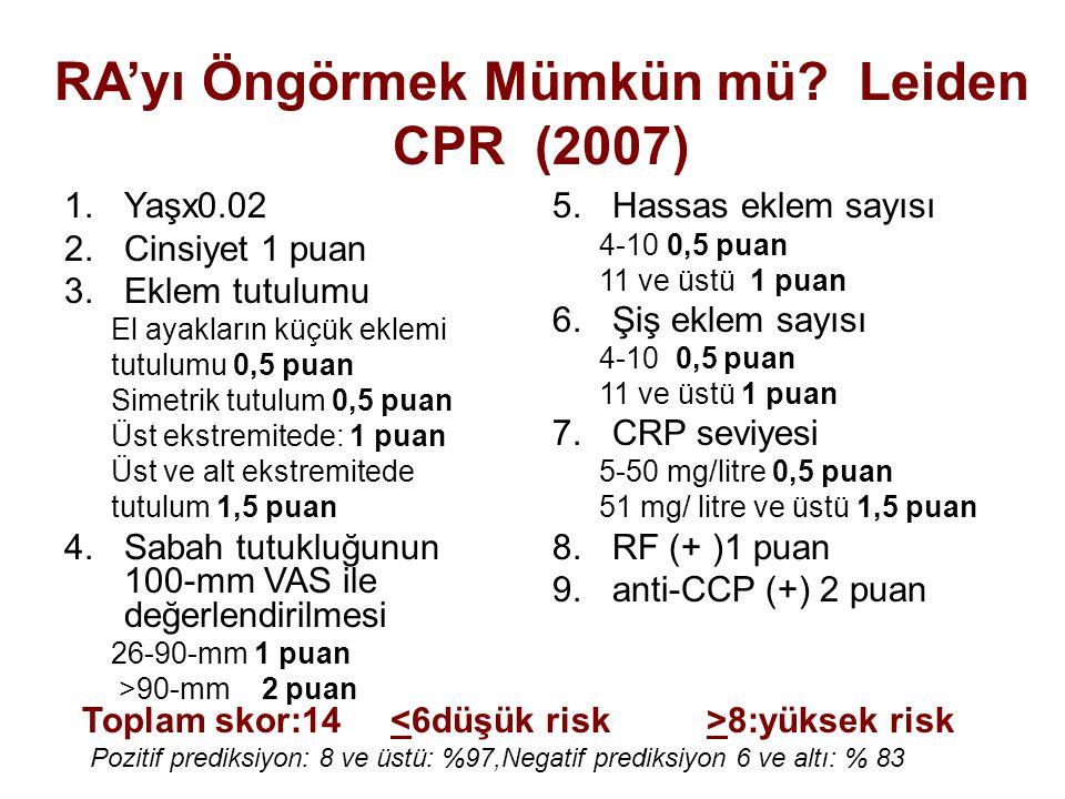 RA'yı Öngörmek Mümkün mü Leiden CPR (2007)