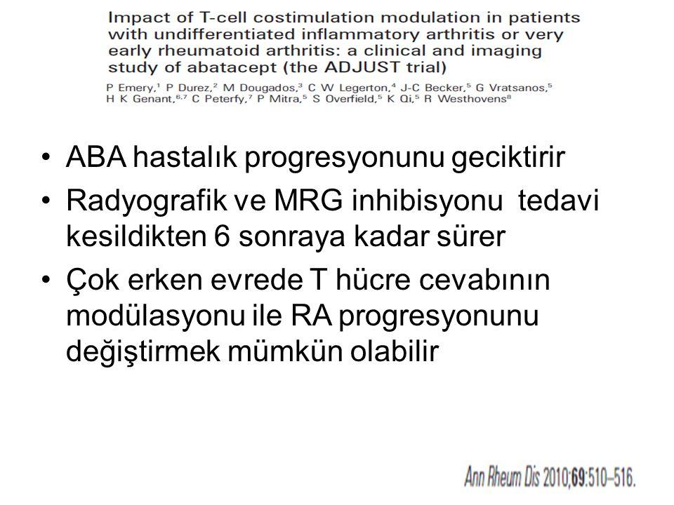 ABA hastalık progresyonunu geciktirir
