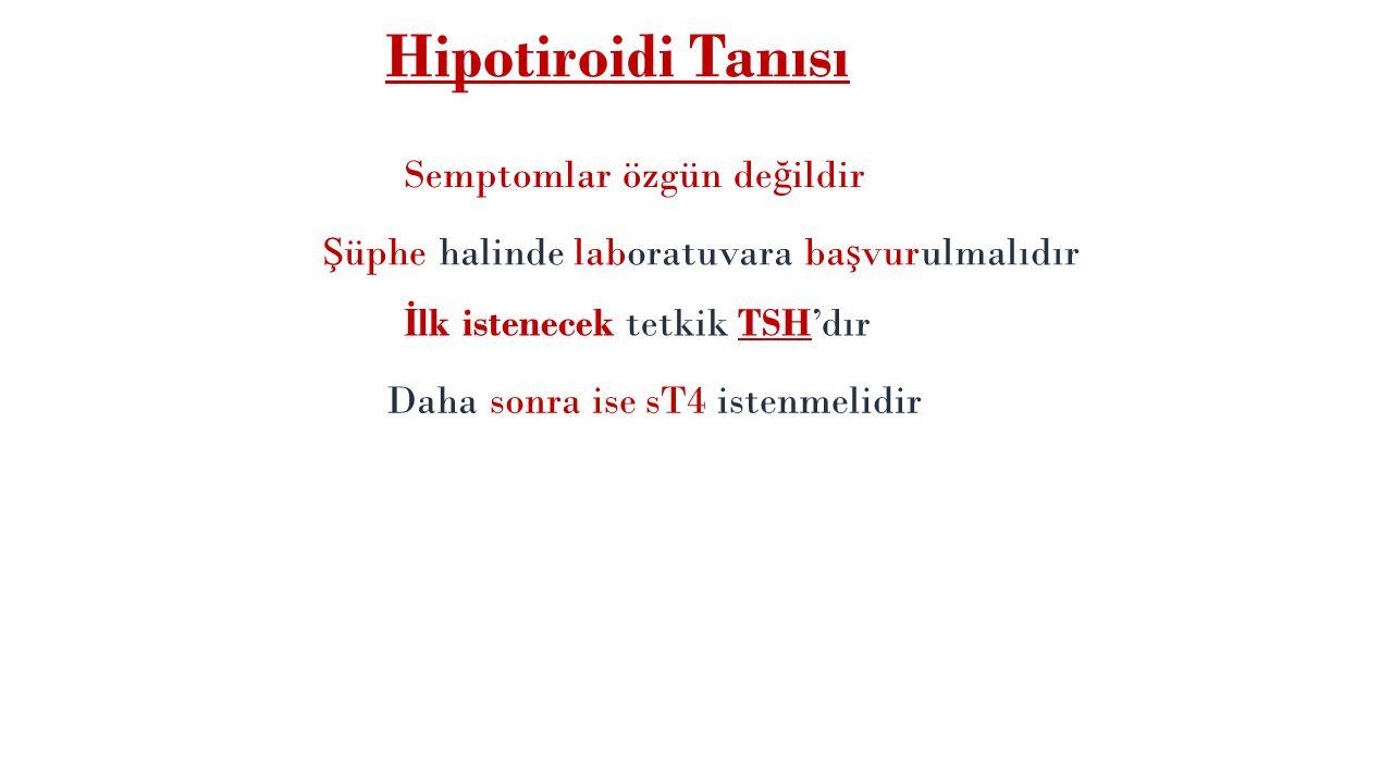 Hipotiroidi Tanısı Semptomlar özgün değildir