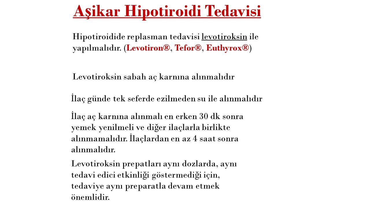 Aşikar Hipotiroidi Tedavisi