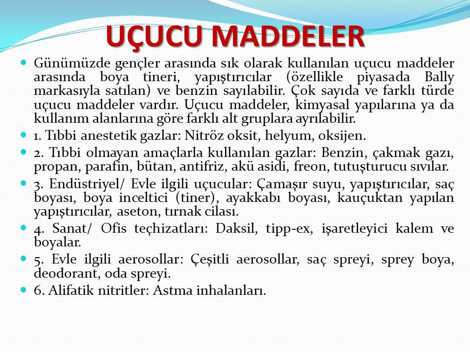 UÇUCU MADDELER