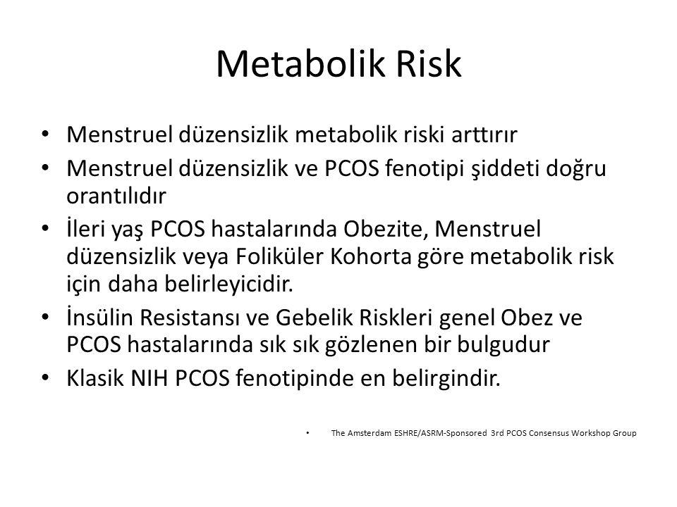 Metabolik Risk Menstruel düzensizlik metabolik riski arttırır