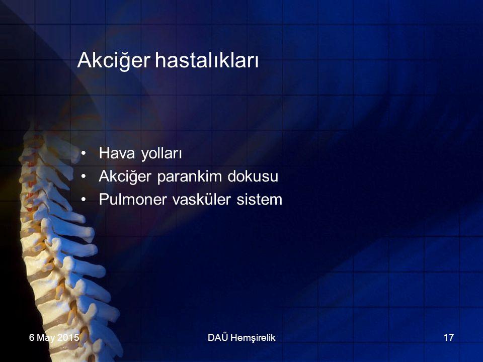 Akciğer hastalıkları Hava yolları Akciğer parankim dokusu