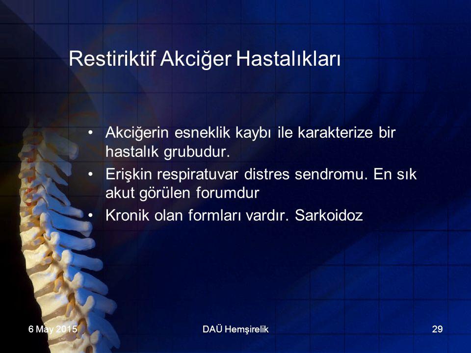 Restiriktif Akciğer Hastalıkları