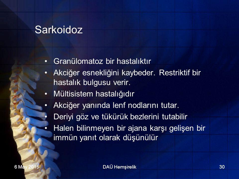 Sarkoidoz Granülomatoz bir hastalıktır