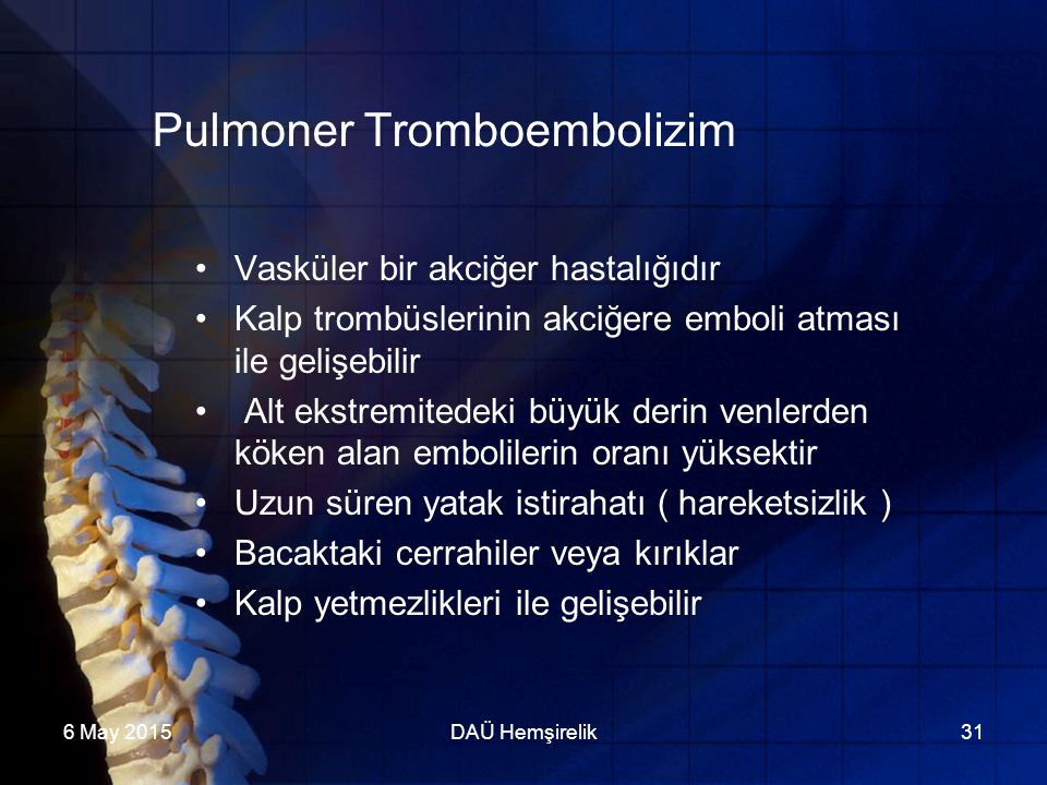 Pulmoner Tromboembolizim