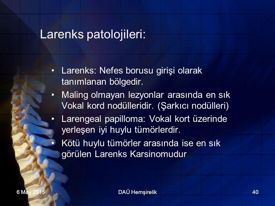 Larenks patolojileri: