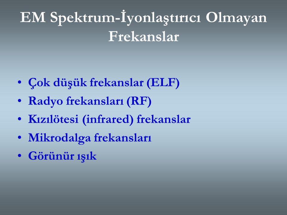 EM Spektrum-İyonlaştırıcı Olmayan Frekanslar