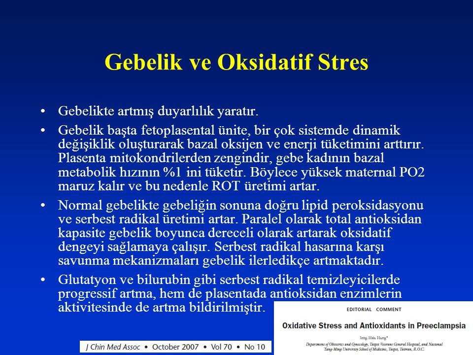 Gebelik ve Oksidatif Stres