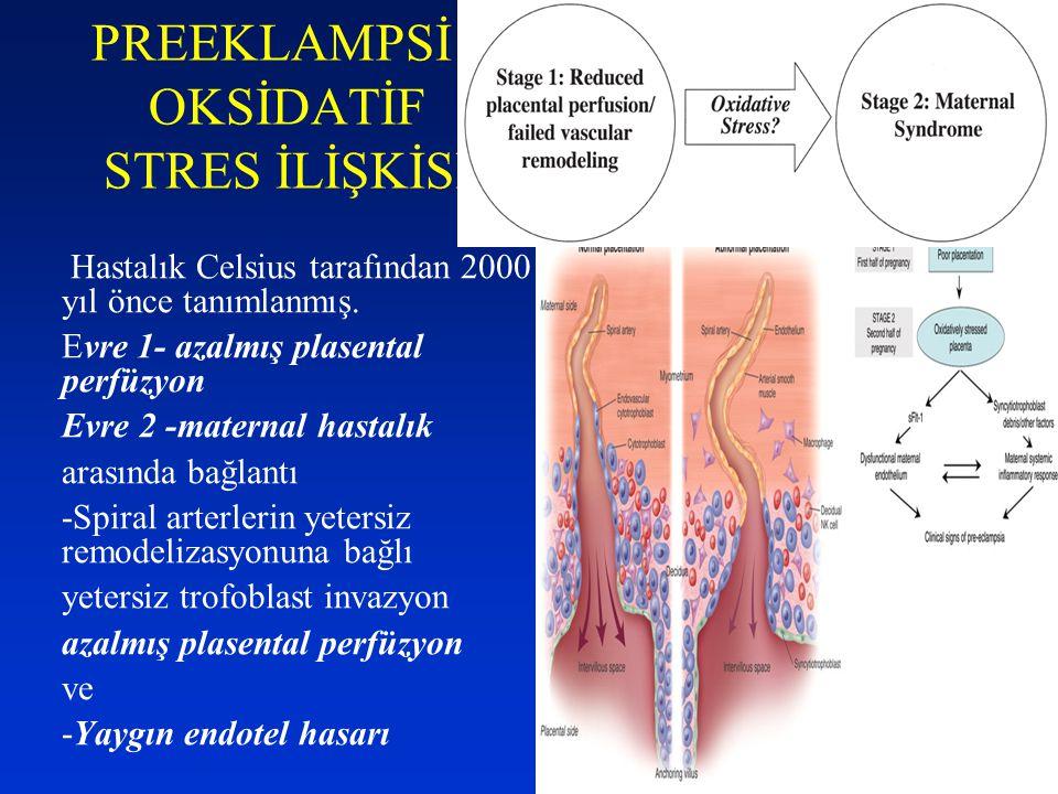 PREEKLAMPSİ - OKSİDATİF STRES İLİŞKİSİ