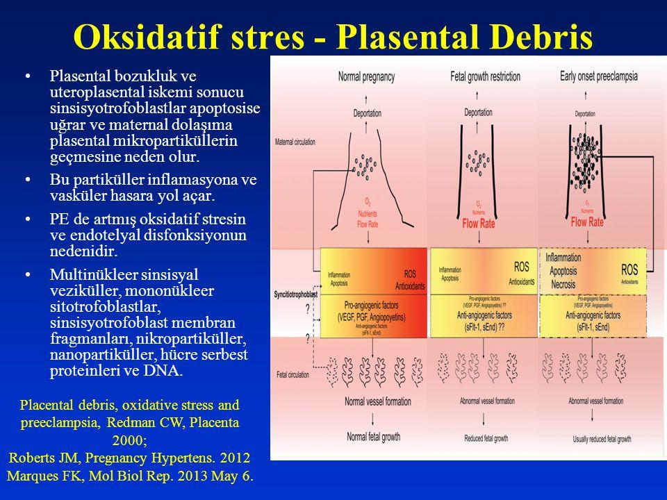 Oksidatif stres - Plasental Debris