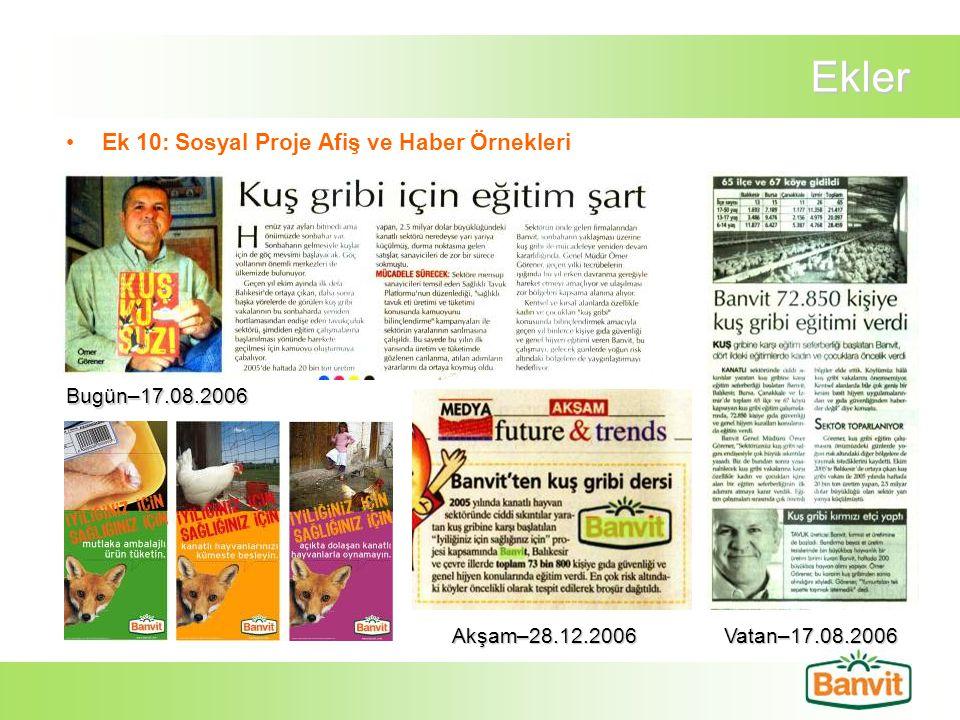 Ekler Ek 10: Sosyal Proje Afiş ve Haber Örnekleri Bugün–17.08.2006