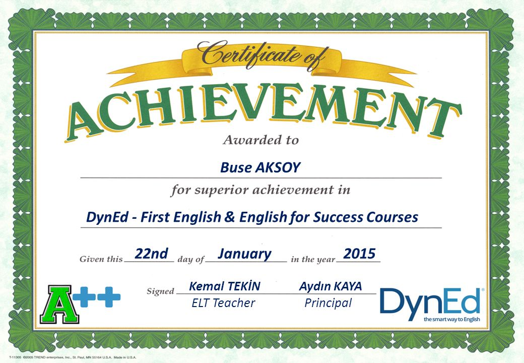 DynEd - First English & English for Success Courses