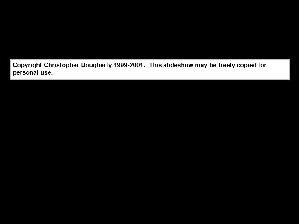 Copyright Christopher Dougherty 1999-2001