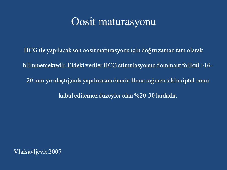 Oosit maturasyonu