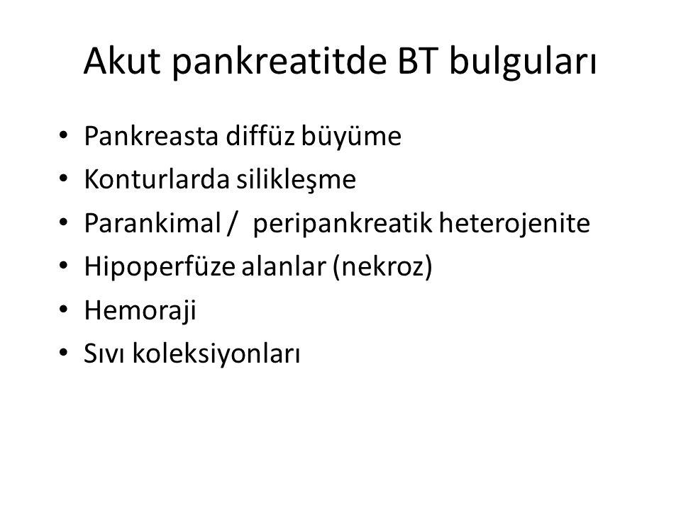 Akut pankreatitde BT bulguları