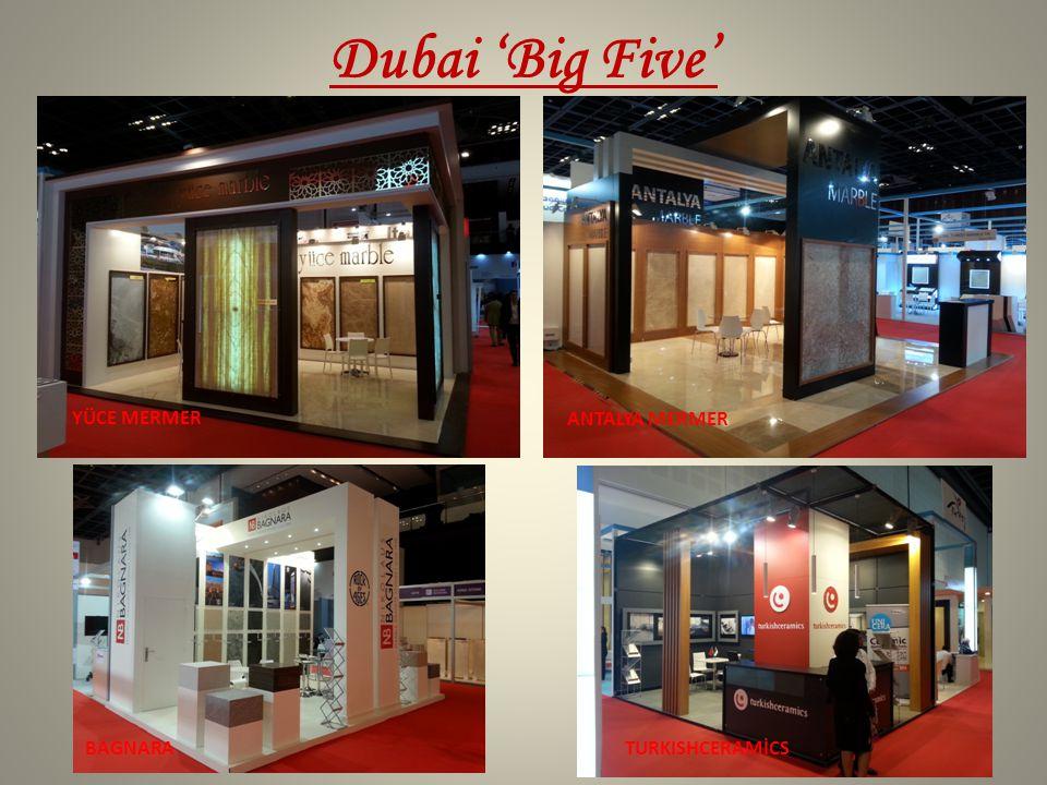 Dubai 'Big Five' YÜCE MERMER ANTALYA MERMER BAGNARA TURKISHCERAMİCS