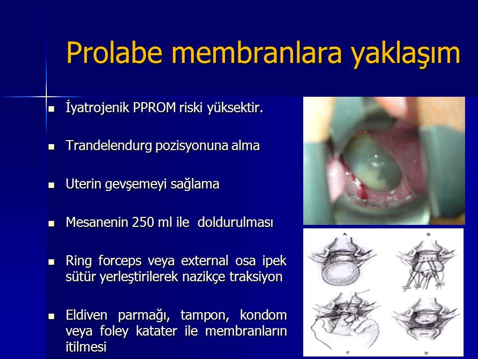Prolabe membranlara yaklaşım