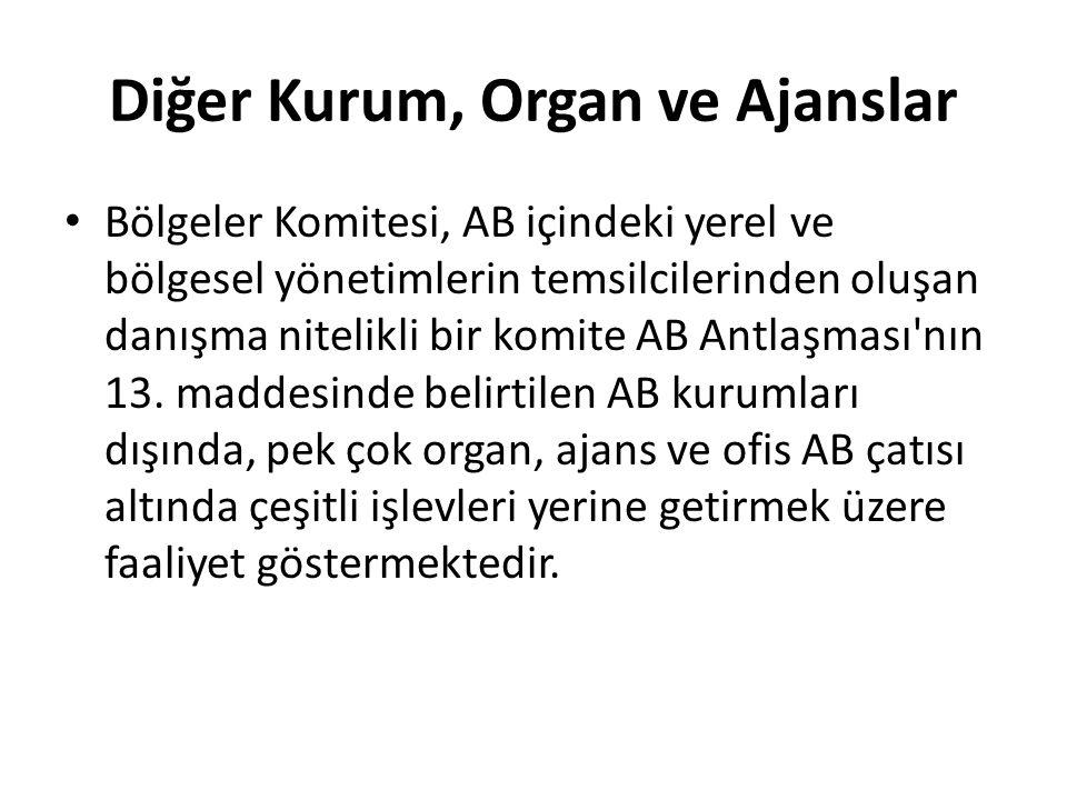 Diğer Kurum, Organ ve Ajanslar