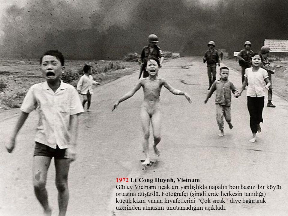 1972 Ut Cong Huynh, Vietnam Güney Vietnam uçakları yanlışlıkla napalm bombasını bir köyün ortasına düşürdü.