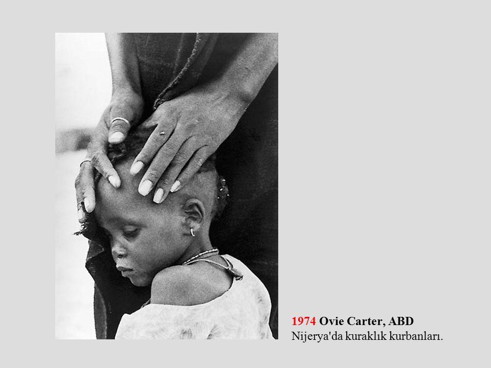 1974 Ovie Carter, ABD Nijerya da kuraklık kurbanları.