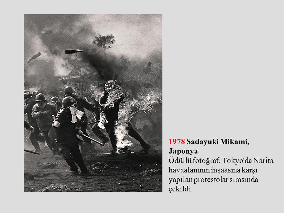 1978 Sadayuki Mikami, Japonya Ödüllü fotoğraf, Tokyo da Narita havaalanının inşaasına karşı yapılan protestolar sırasında çekildi.