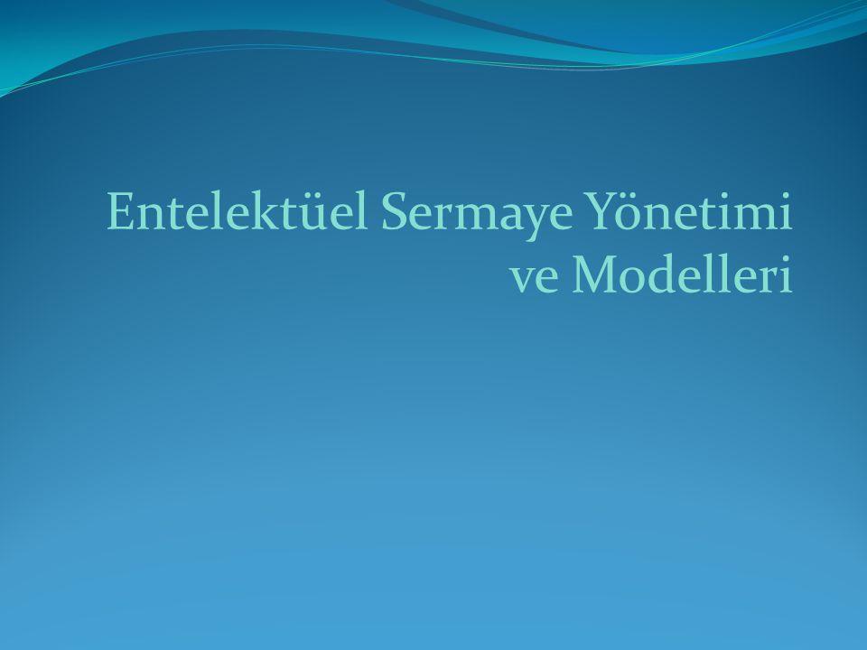 Entelektüel Sermaye Yönetimi ve Modelleri
