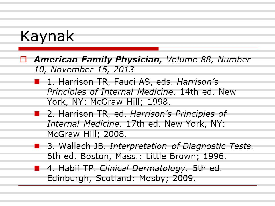 Kaynak American Family Physician, Volume 88, Number 10, November 15, 2013.
