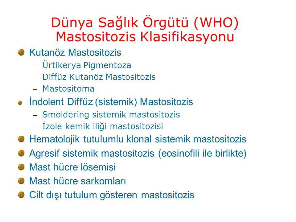Dünya Sağlık Örgütü (WHO) Mastositozis Klasifikasyonu