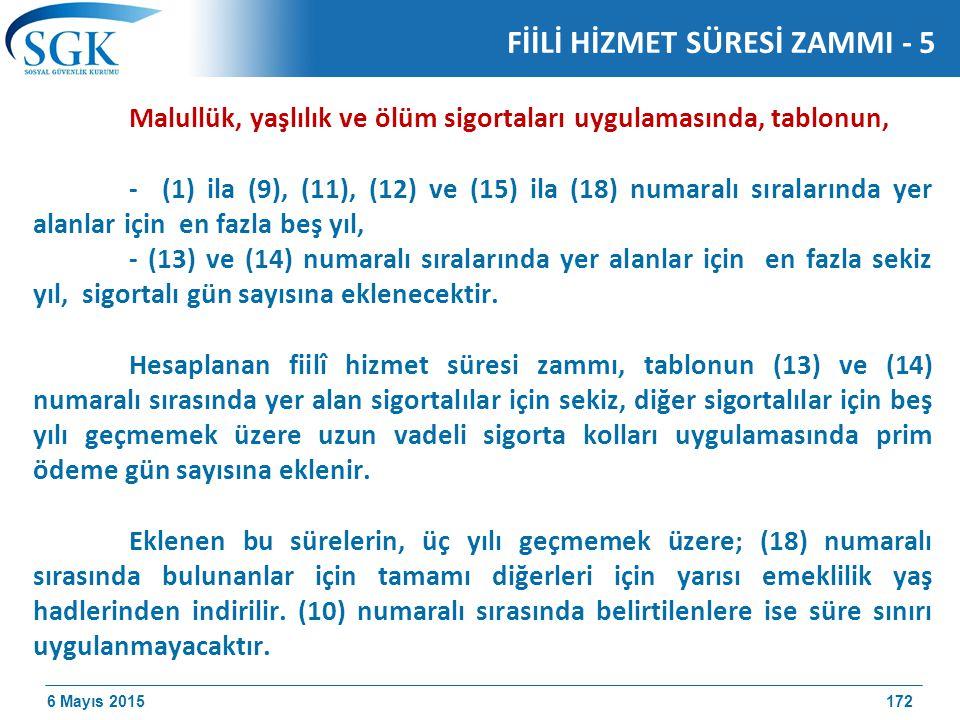 FİİLİ HİZMET SÜRESİ ZAMMI - 5