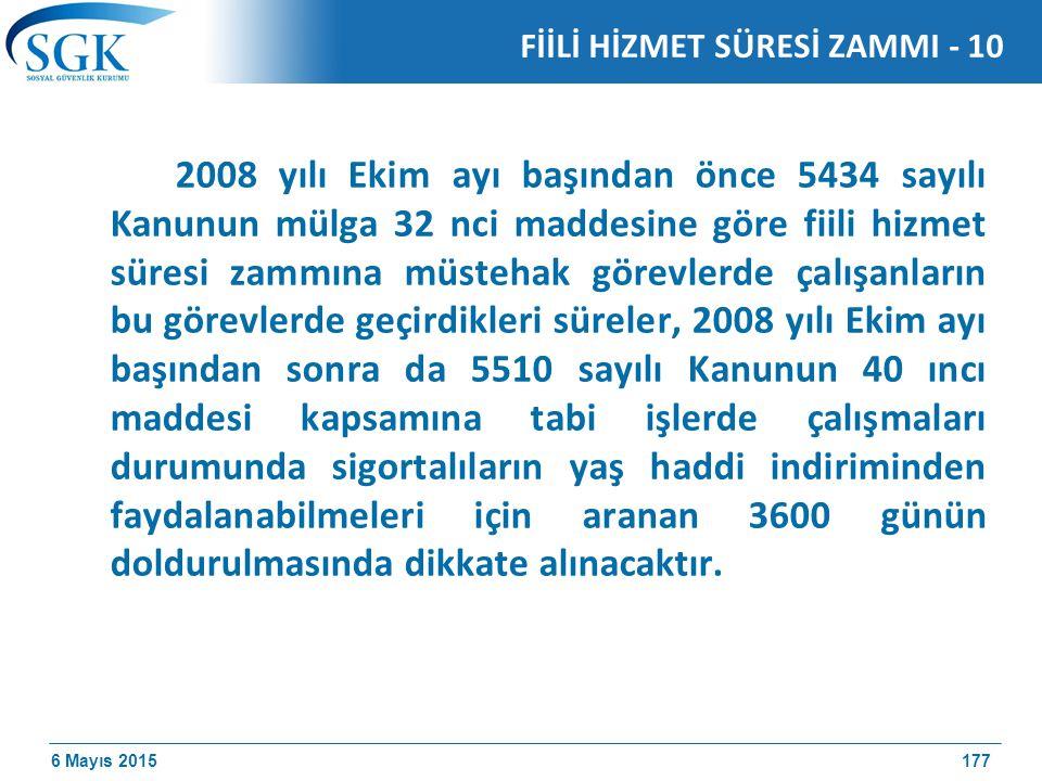 FİİLİ HİZMET SÜRESİ ZAMMI - 10
