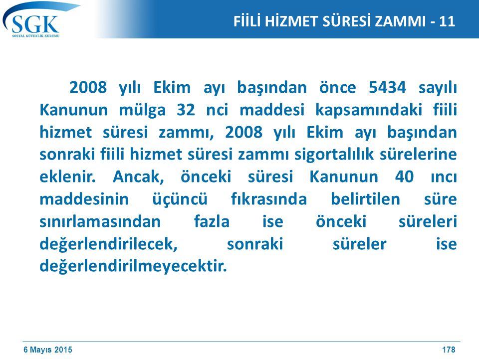 FİİLİ HİZMET SÜRESİ ZAMMI - 11