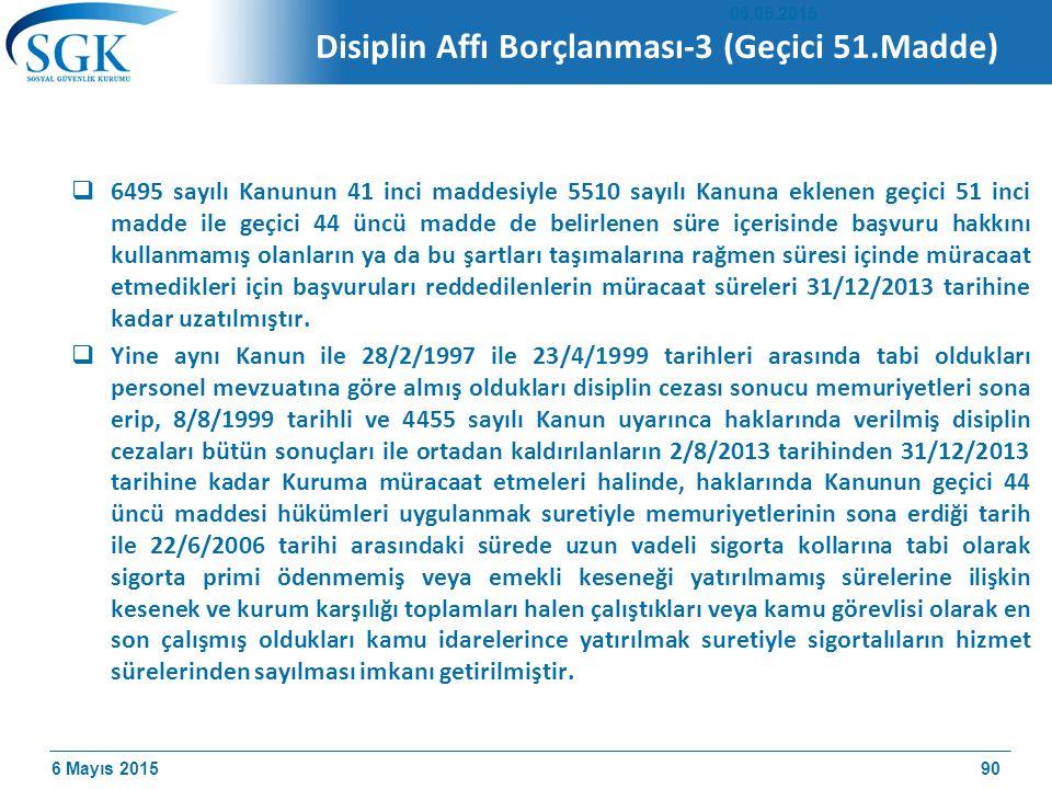 Disiplin Affı Borçlanması-3 (Geçici 51.Madde)