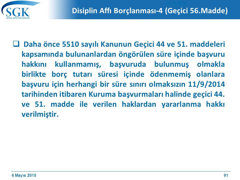 Disiplin Affı Borçlanması-4 (Geçici 56.Madde)