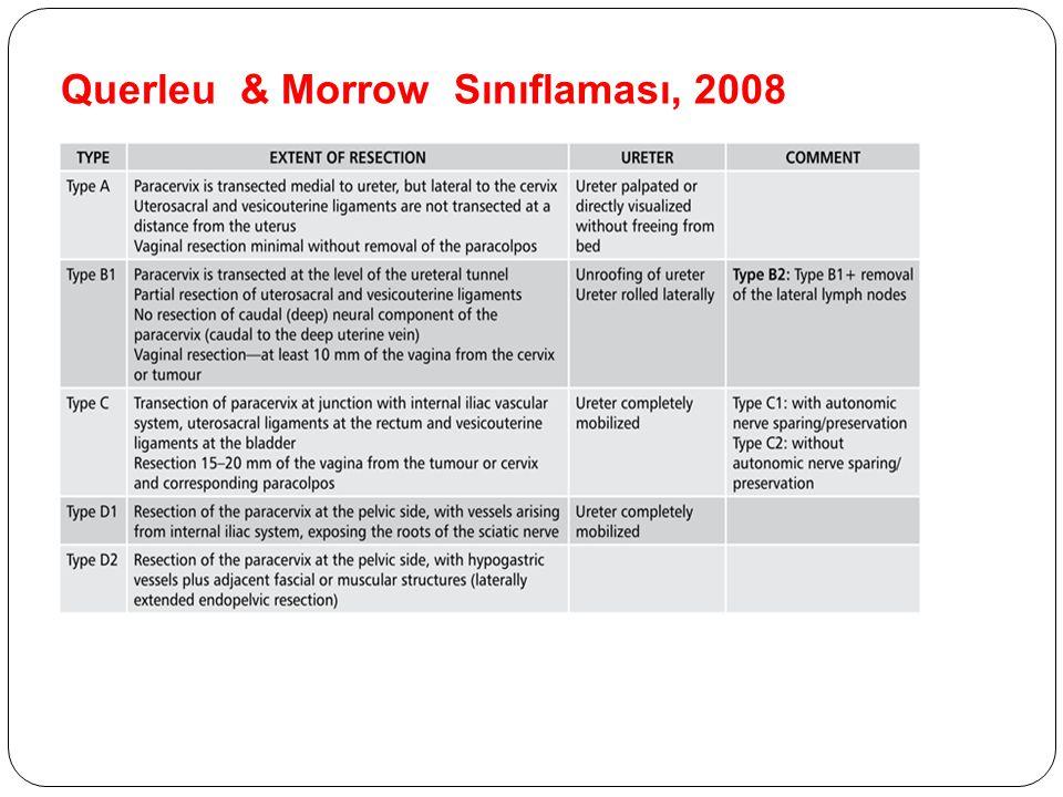 Querleu & Morrow Sınıflaması, 2008
