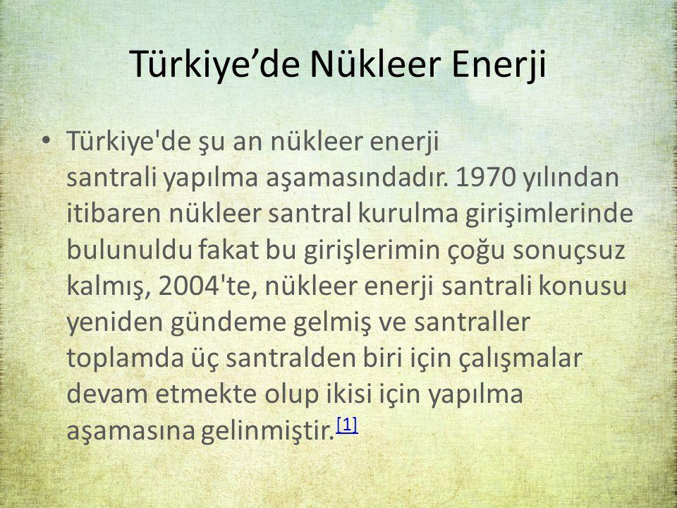 Türkiye'de Nükleer Enerji
