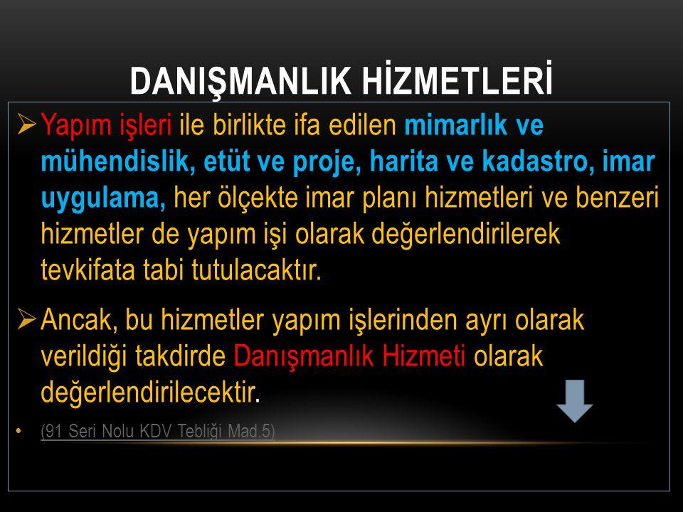 DANIŞMANLIK HİZMETLERİ