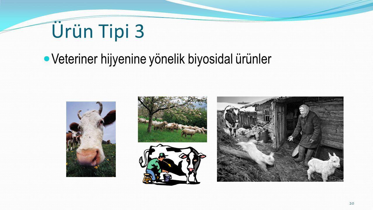 Ürün Tipi 3 Veteriner hijyenine yönelik biyosidal ürünler