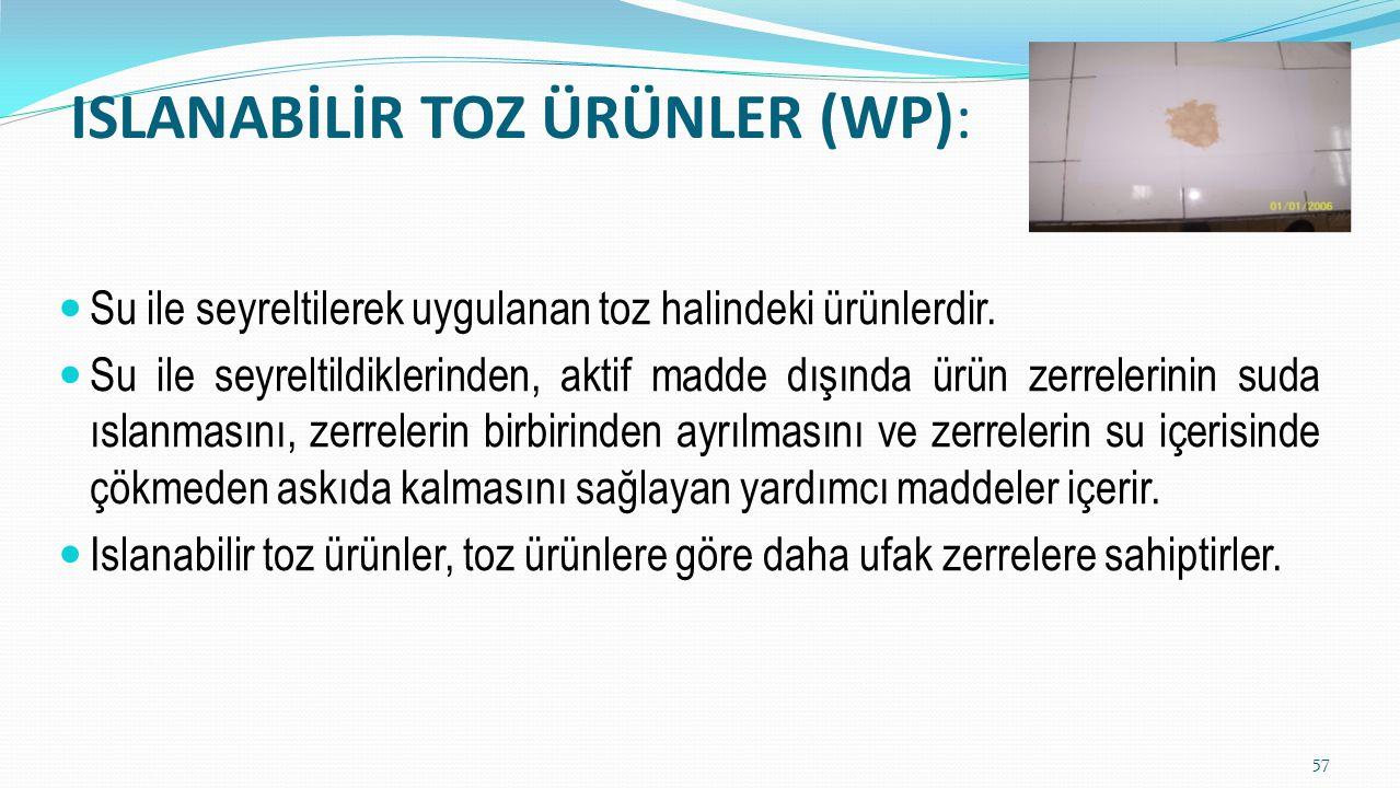 ISLANABİLİR TOZ ÜRÜNLER (WP):