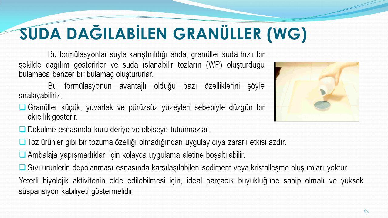 SUDA DAĞILABİLEN GRANÜLLER (WG)