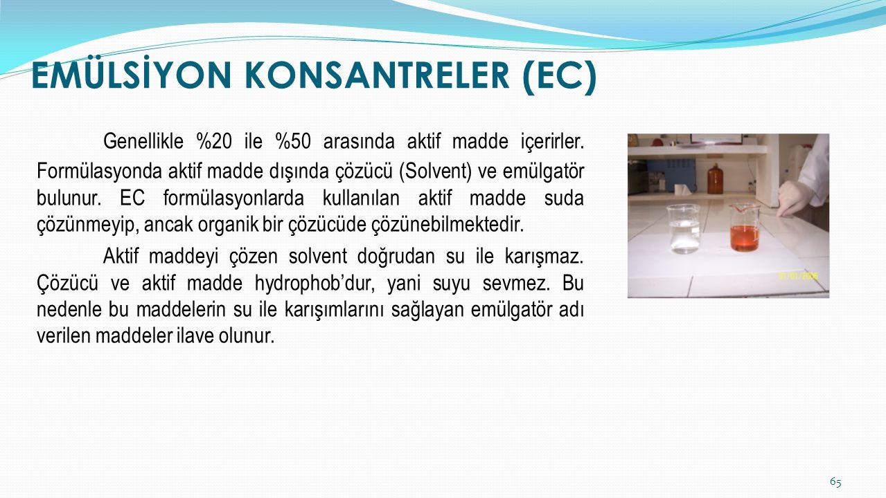 EMÜLSİYON KONSANTRELER (EC)