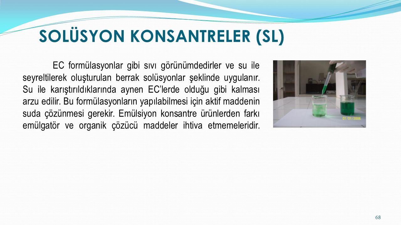 SOLÜSYON KONSANTRELER (SL)