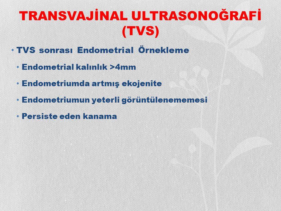 TRANSVAJİNAL ULTRASONOĞRAFİ (TVS)