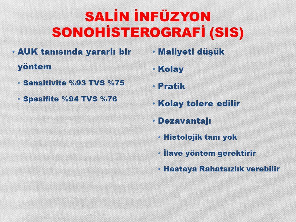 SALİN İNFÜZYON SONOHİSTEROGRAFİ (SIS)