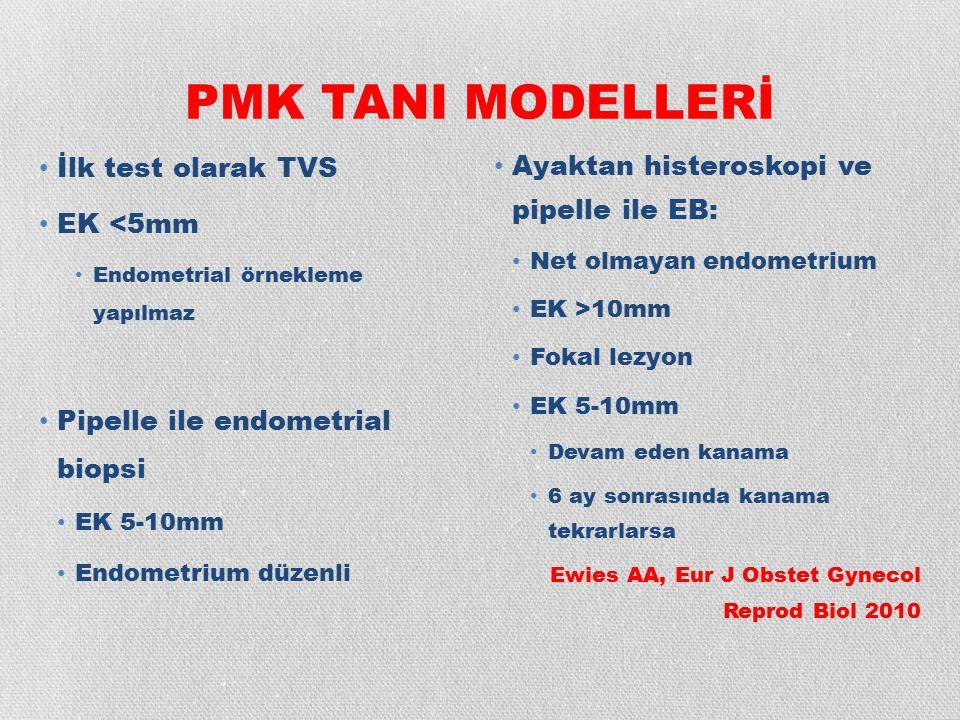 PMK TANI MODELLERİ İlk test olarak TVS EK <5mm
